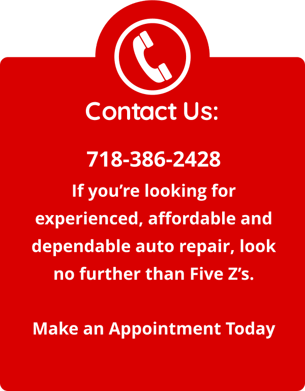 Five Zs Auto Repair, Inc. Contact Us