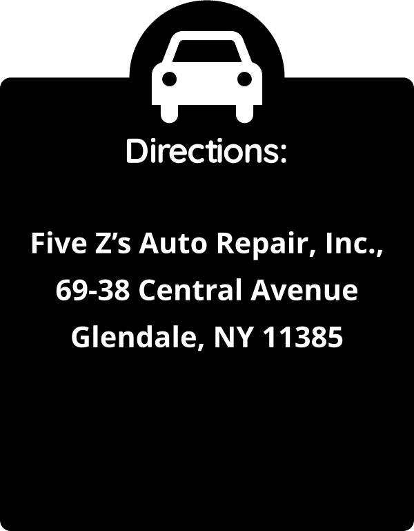 Five Zs Auto Repair, Inc. Directions